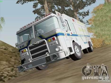 Pierce Fire Rescues. Bone County Hazmat для GTA San Andreas вид снизу