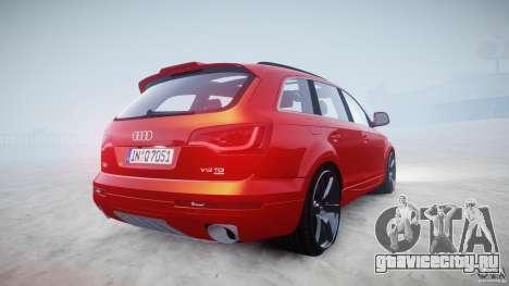 Audi Q7 LED Edit 2009 для GTA 4 вид изнутри