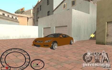 Infiniti G37 Vossen для GTA San Andreas вид справа