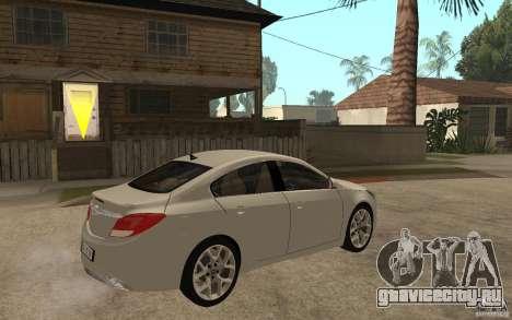 Opel Insignia OPC 2010 для GTA San Andreas вид справа