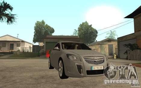 Opel Insignia OPC 2010 для GTA San Andreas вид сзади