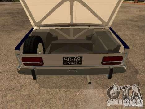 Ваз 2103 Милиция для GTA San Andreas вид изнутри