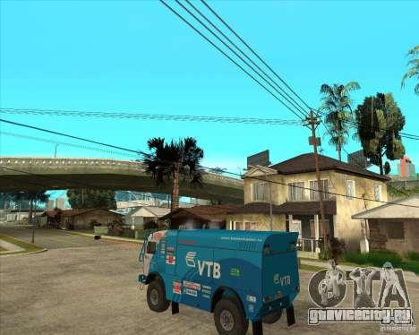 KAMAZ 4911 (2007) Rally Raid version для GTA San Andreas вид слева
