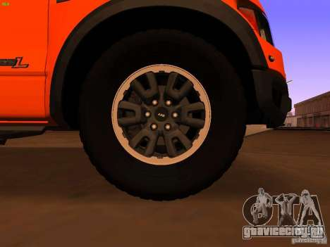 Ford F-150 SVT Raptor 2009 Final для GTA San Andreas вид сзади
