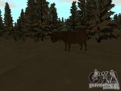 Зимняя трасса для GTA San Andreas девятый скриншот