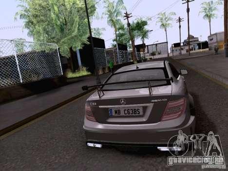 Mercedes-Benz C63 AMG Coupe Black Series для GTA San Andreas вид слева