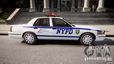 Ford Crown Victoria Police Department 2008 NYPD для GTA 4 вид слева