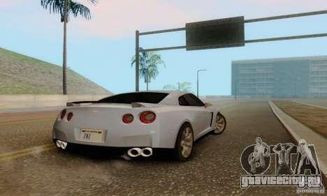 Nissan GT-R для GTA San Andreas вид сзади
