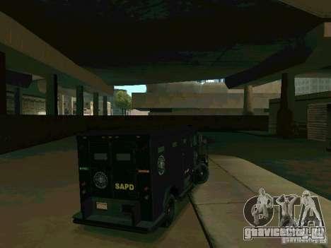 Stokade SAPD SWAT Van для GTA San Andreas вид справа