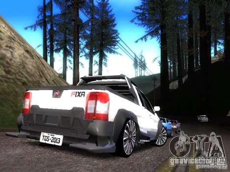 Fiat Strada для GTA San Andreas вид сзади слева