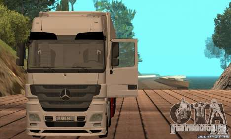 Mercedes-Benz Actros MP3 для GTA San Andreas вид сзади слева
