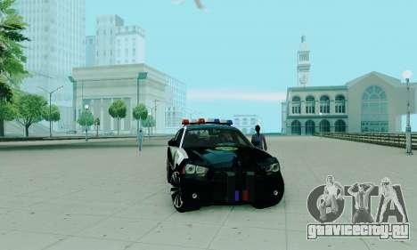 Dodge Charger 2012 Police для GTA San Andreas вид справа