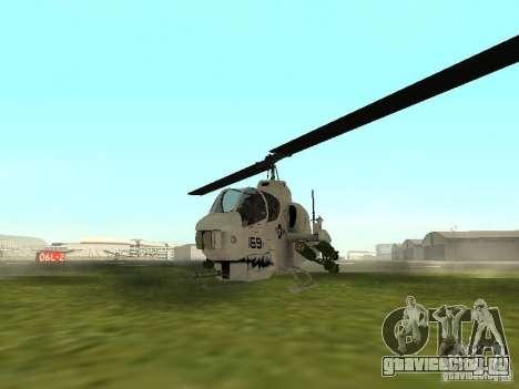 AH-1 Supercobra для GTA San Andreas вид слева