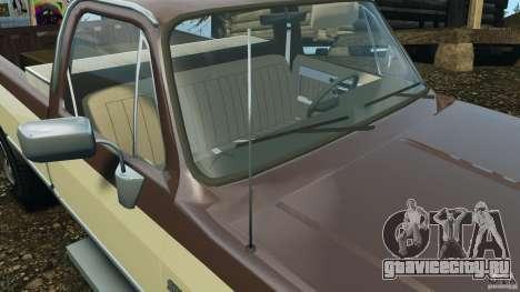 Chevrolet Silverado 1986 для GTA 4 двигатель