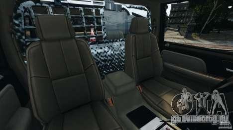Chevrolet Tahoe LCPD SWAT для GTA 4 вид изнутри