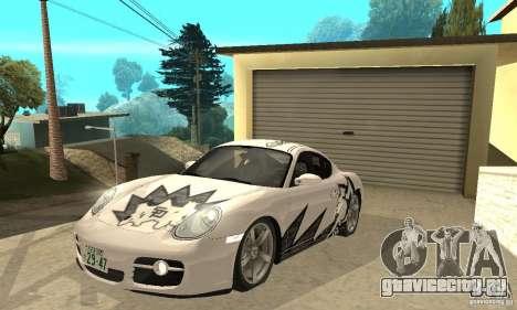 Porsche Cayman S для GTA San Andreas салон
