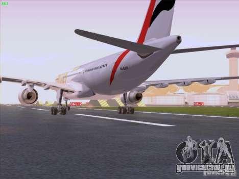 Airbus A330-200 Emirates для GTA San Andreas вид справа