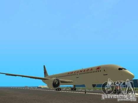 Boeing 787 Dreamliner Air Canada для GTA San Andreas вид слева