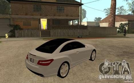 Mercedes Benz E-CLASS Coupe для GTA San Andreas вид справа