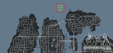 Tokyo Docks Drift для GTA 4 одинадцатый скриншот