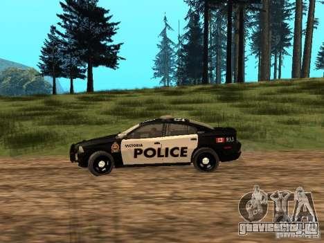 Dodge Charger Canadian Victoria Police 2011 для GTA San Andreas вид слева