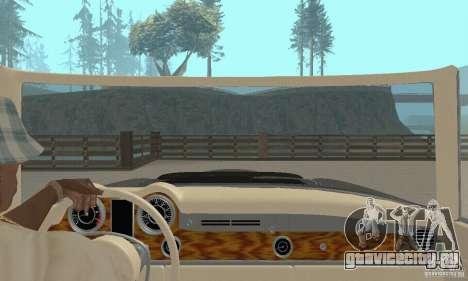 Mercedes-Benz 280SL (матовый) для GTA San Andreas вид изнутри