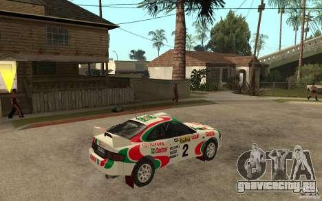 Toyota Celica GT4 DiRT для GTA San Andreas вид справа
