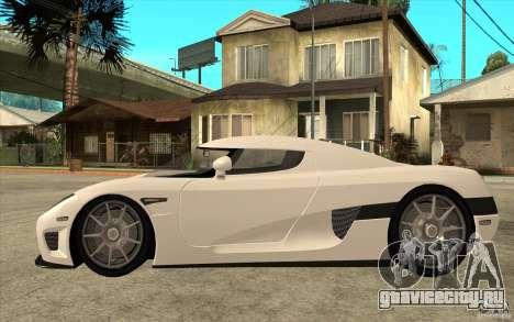 Koenigsegg CCX - Stock для GTA San Andreas вид слева