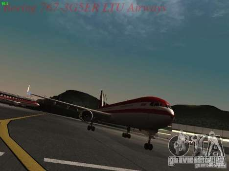 Boeing 767-3G5ER LTU Airways для GTA San Andreas вид слева