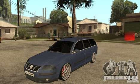 Volkswagen Passat B5.5 2.5TDI 4MOTION для GTA San Andreas