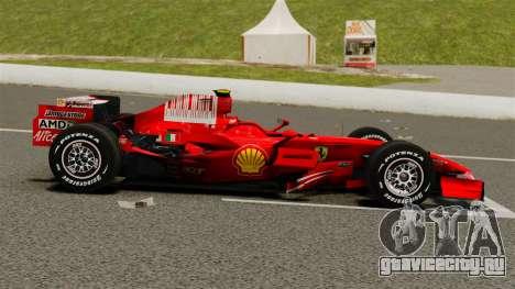 Ferrari F2008 для GTA 4 вид слева