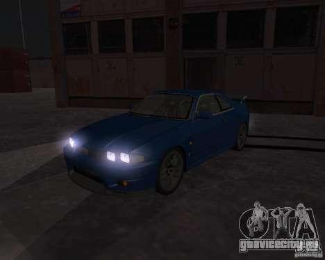 Nissan Skyline GT-R R-33 для GTA San Andreas вид изнутри