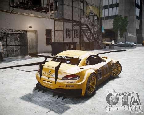 BMW Z4 GT3 2010 для GTA 4 вид слева