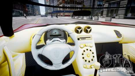 Koenigsegg CCRT для GTA 4 вид сзади