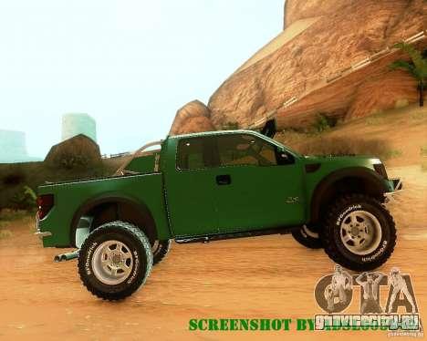 Ford F150 2011 SVT RapTor для GTA San Andreas вид сверху