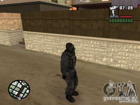 Сталкер наёмник в противогазе для GTA San Andreas четвёртый скриншот