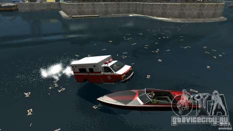 Ambulance boat для GTA 4 вид справа