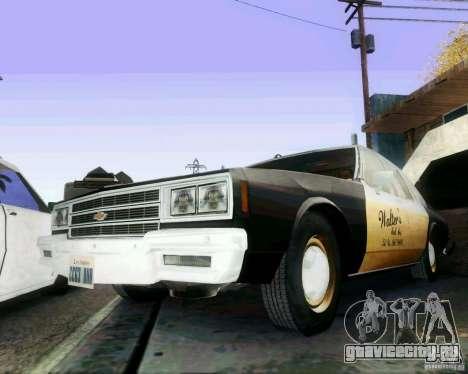 Chevrolet Impala 1986 Taxi Cab для GTA San Andreas вид справа