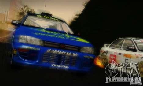 Subaru Impreza 1995 World Rally ChampionShip для GTA San Andreas вид снизу