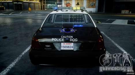 Ford Crown Victoria SFPD K9 Unit [ELS] для GTA 4 двигатель