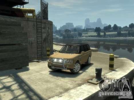 Range Rover Supercharged 2008 для GTA 4 вид сзади