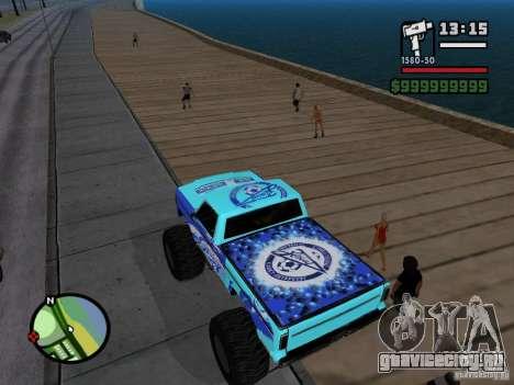 Monster A в стиле ФК ЗЕНИТ для GTA San Andreas вид сзади слева