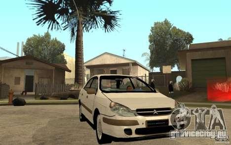 Citroen C5 HDI для GTA San Andreas вид сзади