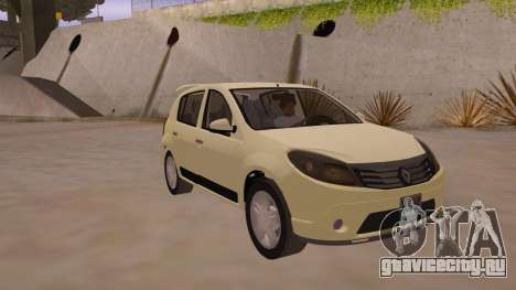 Renault Sandero для GTA San Andreas вид сзади