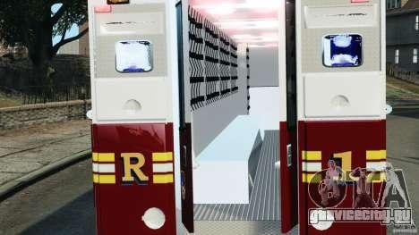FDNY Rescue 1 [ELS] для GTA 4 вид сзади