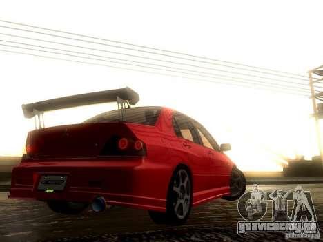 Mitsubishi Lancer Evolution VIII Full Tunable для GTA San Andreas вид сверху
