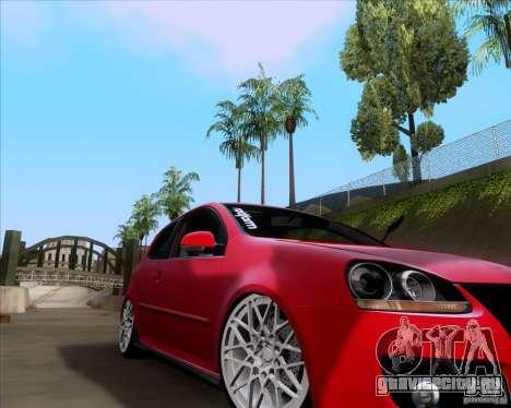 Volkswagen Golf MK5 GTI Stance для GTA San Andreas вид слева
