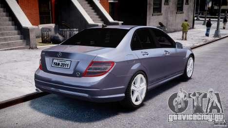 Mercedes-Benz C180 CGi Classic Special 2009 для GTA 4 вид сбоку