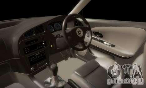 Mitsubishi Lancer Evolution 6 для GTA San Andreas вид сбоку
