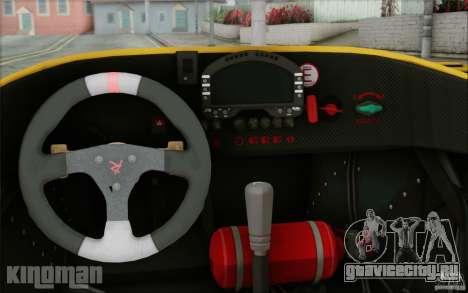 Radical SR3 RS 2009 для GTA San Andreas вид изнутри